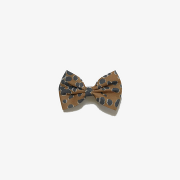 leopard bow, yellow