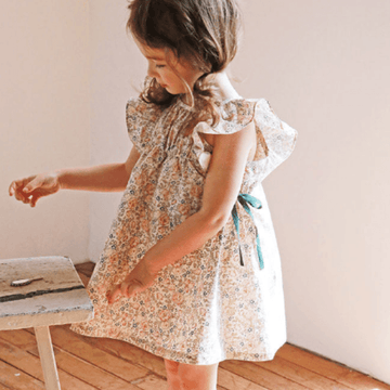 flo lily dress in floral print for toddler girls
