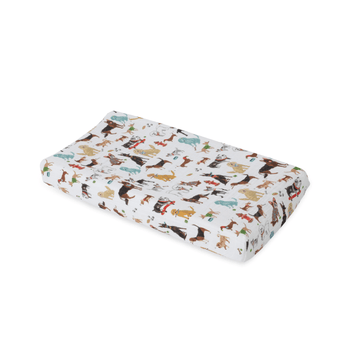 Cotton Muslin Changing Pad Cover, Woof