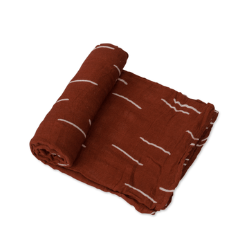 Deluxe Cotton Muslin Swaddle Blanket, Baked Clay