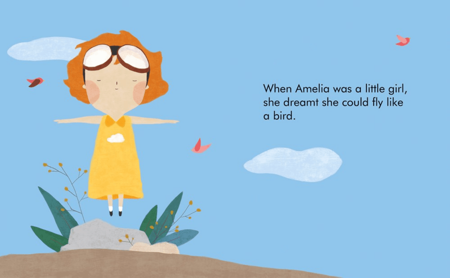 my first little people, big dreams board book: amelia earhart