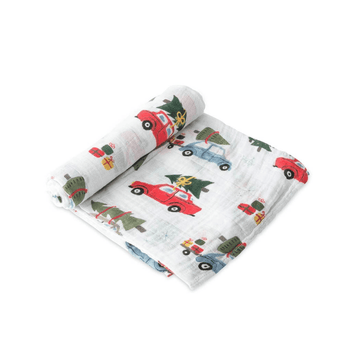 Cotton Muslin Swaddle Blanket, Holiday Haul