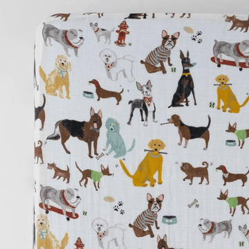 cotton muslin crib sheet, woof