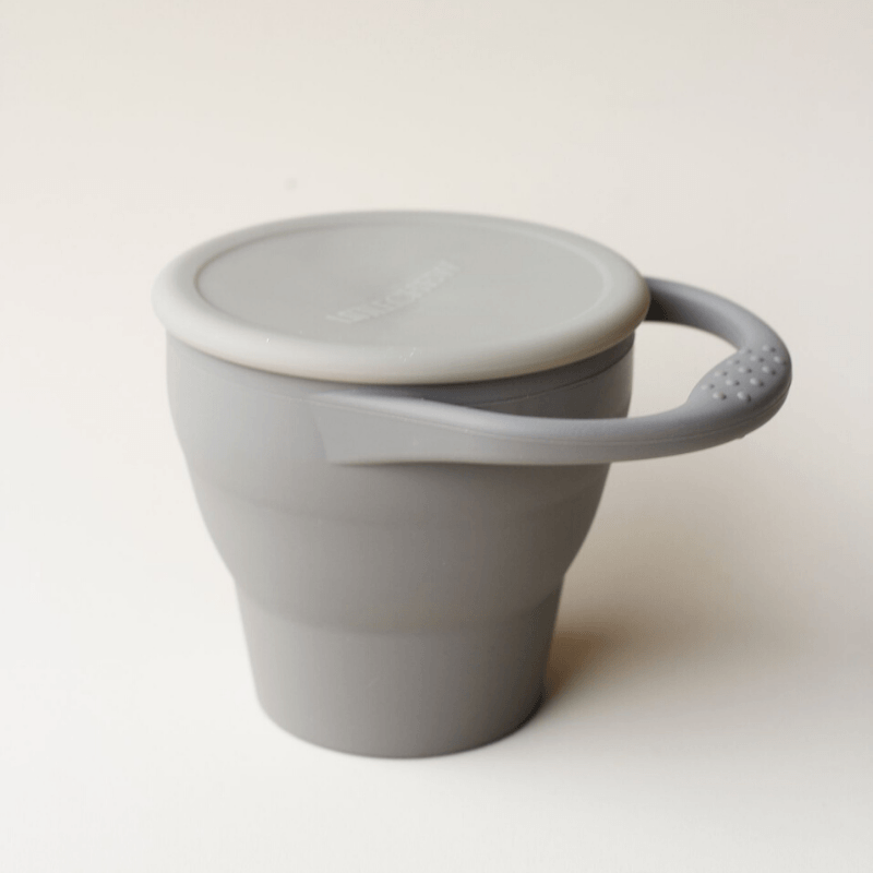 Foldable Silicone Snack Cup, Pebble