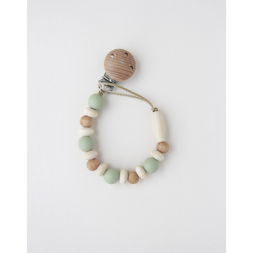 littlechew silicone + wood pacifier clip, noraway