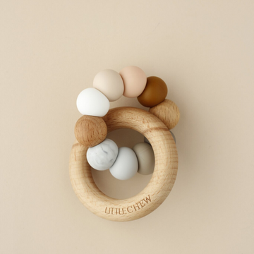 silicone + wood teether toy, carlo