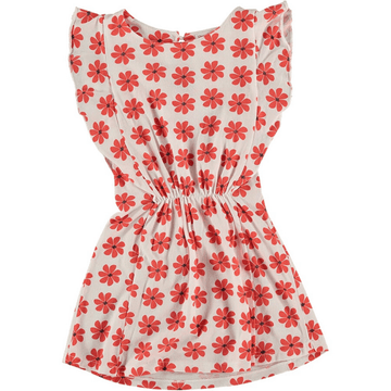 lola knit dress, flower print