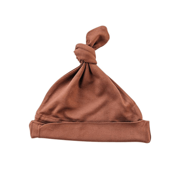 Newborn Knot Hat, Rust