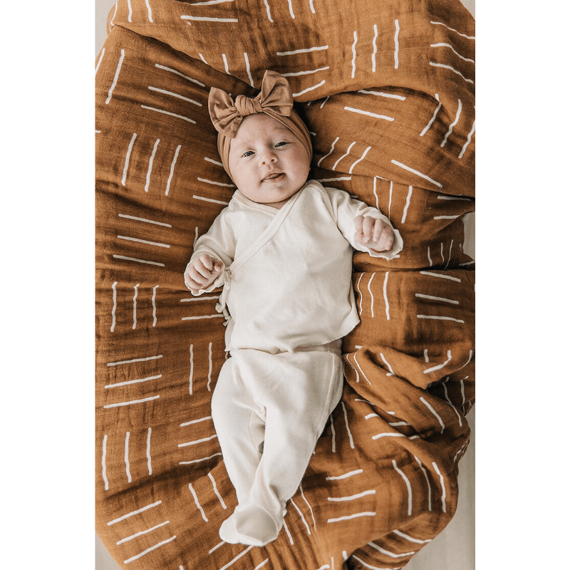 cotton layette set, cream