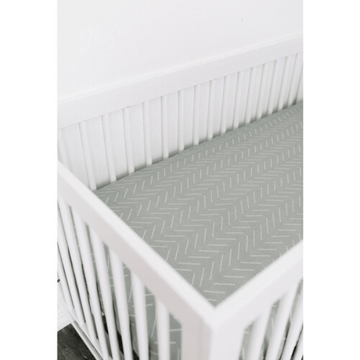cotton muslin crib sheet, desert sage