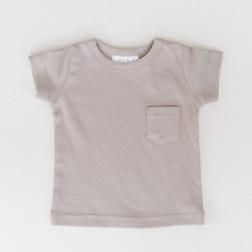 cotton pocket tee, ash