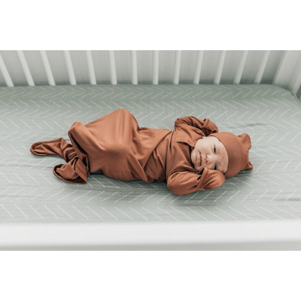 mebie baby desert sage crib sheet cotton muslin