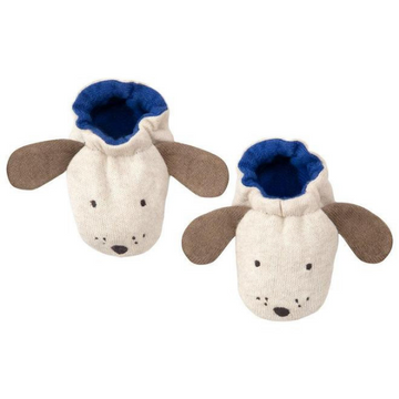 meri meri dog baby booties