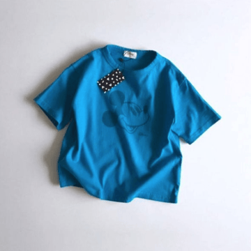 mickey cotton tee in blue