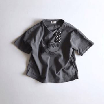 mickey cotton tee in charcoal