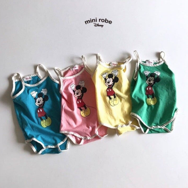 mickey mouse cotton bodysuit for babies