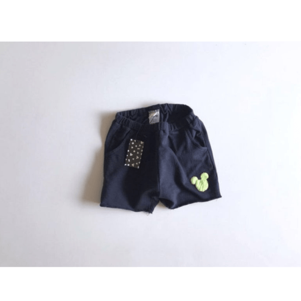 mickey mouse cotton shorts, navy