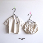 mickey mouse cotton tee and bloomers in ivory