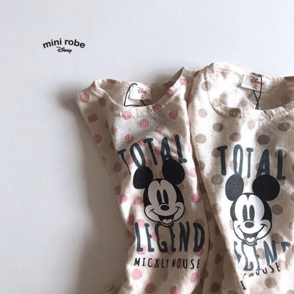 mickey mouse polka dot total legend bodysuit