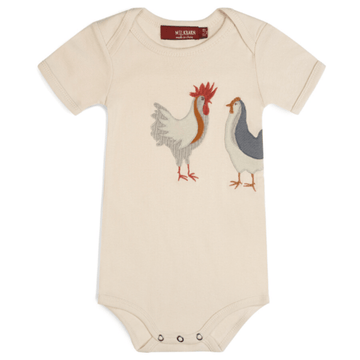 milkbarn applique one piece chicken