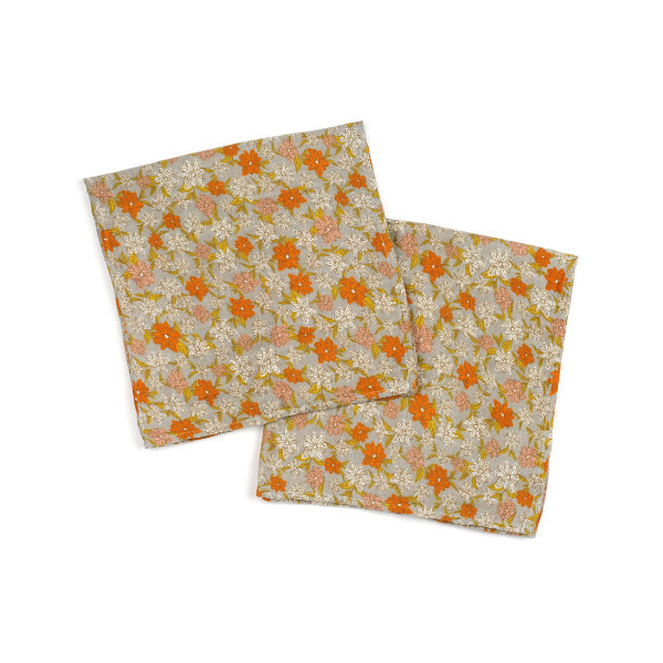 milkbarn bamboo muslin set of burpies in grey floral