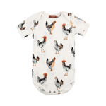 milkbarn organic short sleeve one piece in chicken