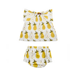 organic dress + bloomer set in pear (pre-order now!)