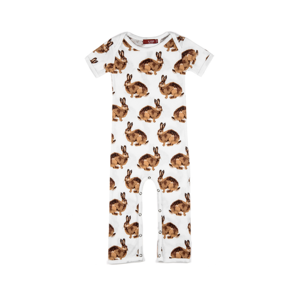 organic romper in bunny (pre-order now!)