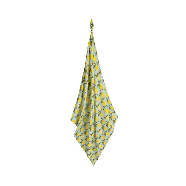 milkbarn organic swaddle in lemon