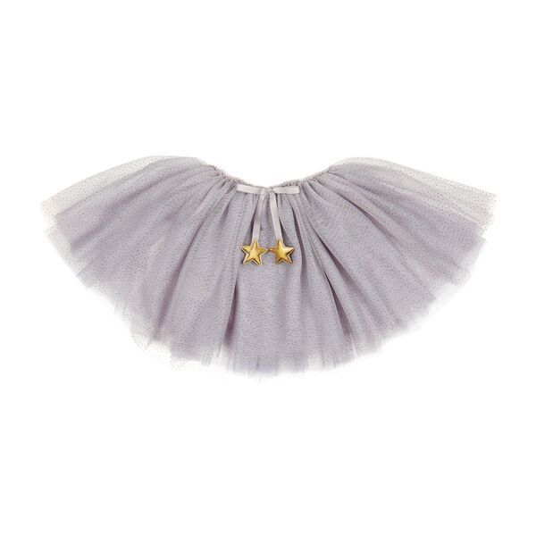 fairy dust sparkle tutu skirt, soft pink and pale grey