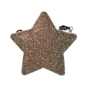 mimi and lula glitter star bag, gold/silver