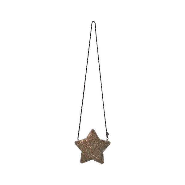 glitter star bag, gold/silver