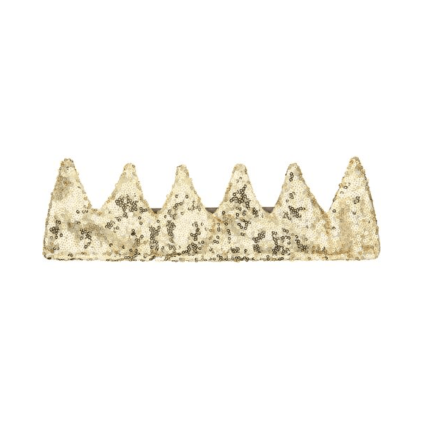 mimi and lula gold sequin crown for girls and boys