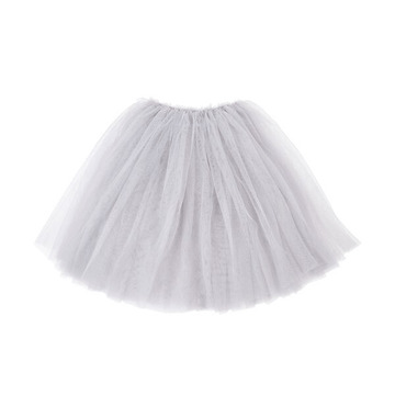mimi and lula longer length tutu skirt in grey for toddler girls