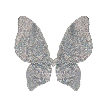 mimi & lula sparkle sequin wings in silver
