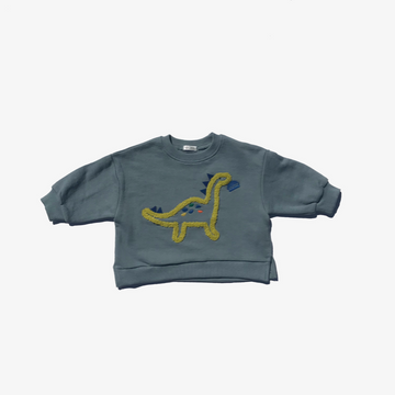 mimico dino loves burger sweatshirt for toddler boys