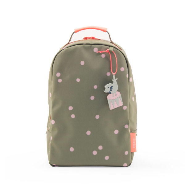 mini polka dot backpack in olive