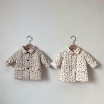 monbebe cherry jacket in beige and black for toddlers