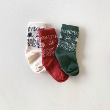 monbebe christmas socks, set of three