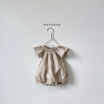 monbebe linen embroidered bodysuit