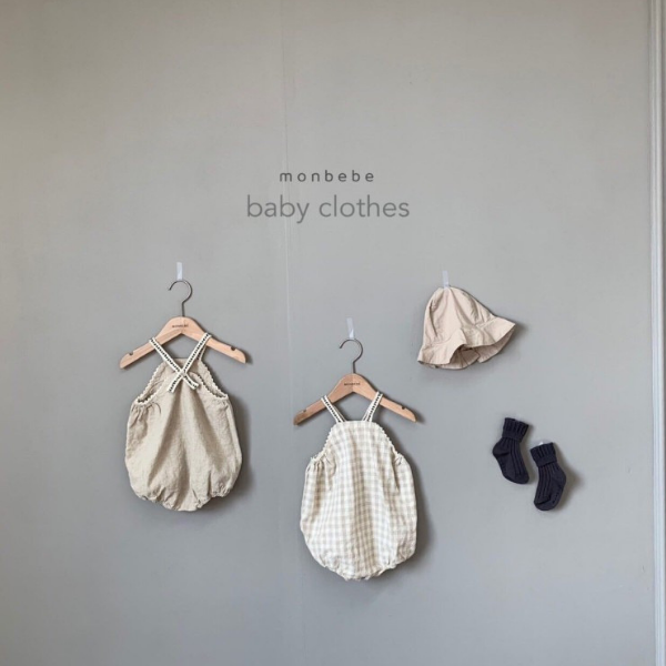 monbebe morocco linen romper for baby girls