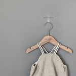 monbebe morocco romper in natural for baby girls