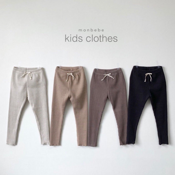 monbebe ribbed leggings black and mocha for toddlers