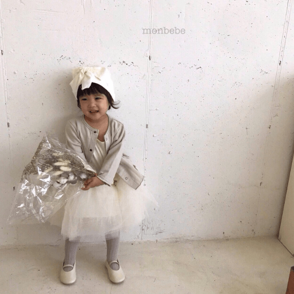 monbebe tutu dress in cream