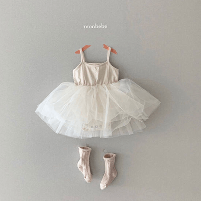 monbebe tutu dress cream