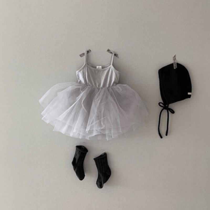 monbebe tutu dress for toddlers grey
