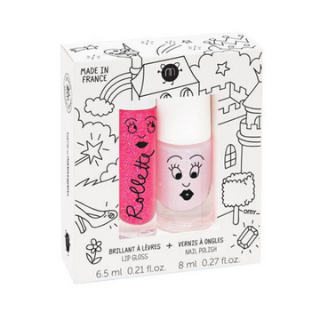 nailmatic rollette and nail polish gift set in fairytales and pink