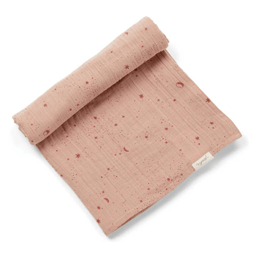 organic cotton swaddle, stardust