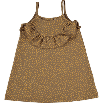 picnick kate ruffle dress, giraffe print front