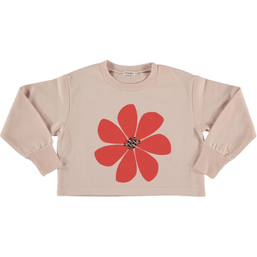 picnik cropped flower sweatshirt